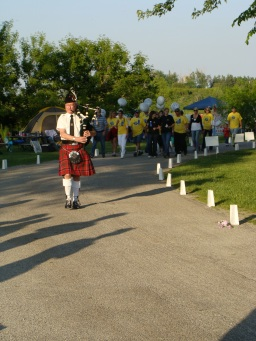 Bagpipe starts the event
