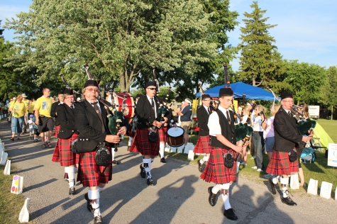 Bag Pipes start the event