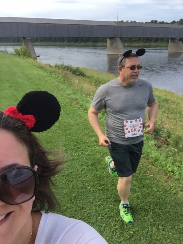 Run Selfie - yes he wore his ears proudly!
