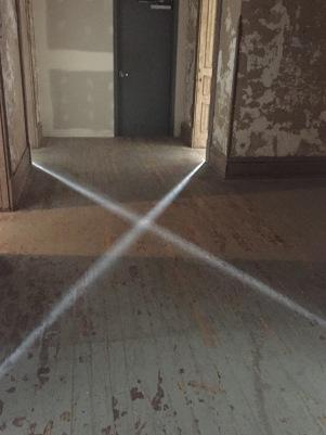 Strange glow on the floor