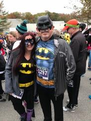 A Match ..Bat girl and Bat Man